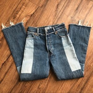 RE DONE/ Levi's High Waist 70s Patch Jeans